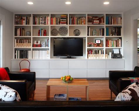 25 best ideas about tv bookcase on built in