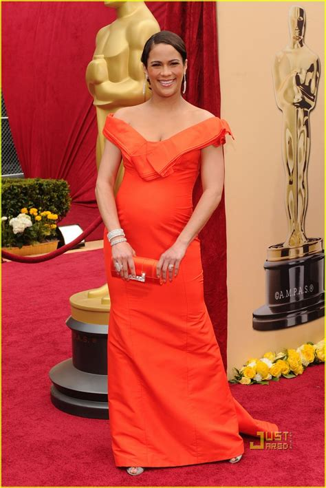 paula pattons feathered oscars party dress celebrity paula patton robin thicke oscars 2010 red carpet