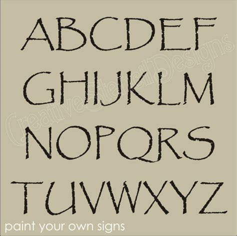 free printable rustic fonts stencil primitive alphabet papyrus font 4 quot capital letters