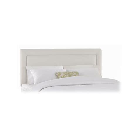 addison headboard skyline furniture addison king twill upholstered border