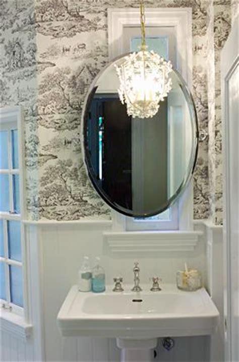 black and white toile wallpaper bathroom toile wallpaper eclectic bathroom artistic designs