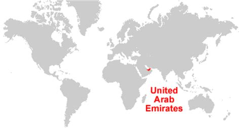 uae in world map united arab emirates map and satellite image