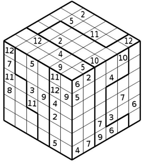 printable sudoku cube sudoku 3d e 3