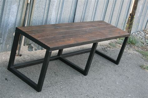 wood and steel bench steel reclaimed wood bench