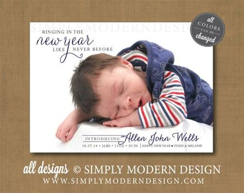 new year of birth new year birth announcement birth announcement