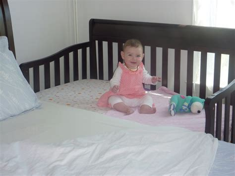 cribs that attach to side of bed how long is a crib mattress home improvement