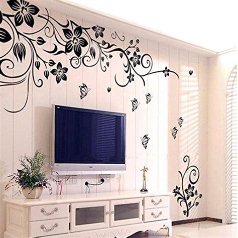 disegni per interni wall sticker adesivi murales carta da pareti quot fiore nero