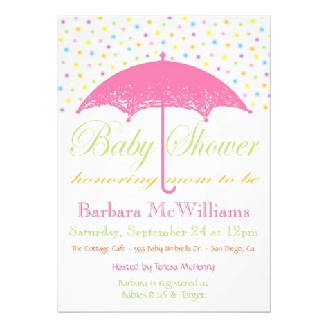 Umbrella Baby Shower by Umbrella Baby Shower Invitations 5 Quot X 7 Quot Invitation Card