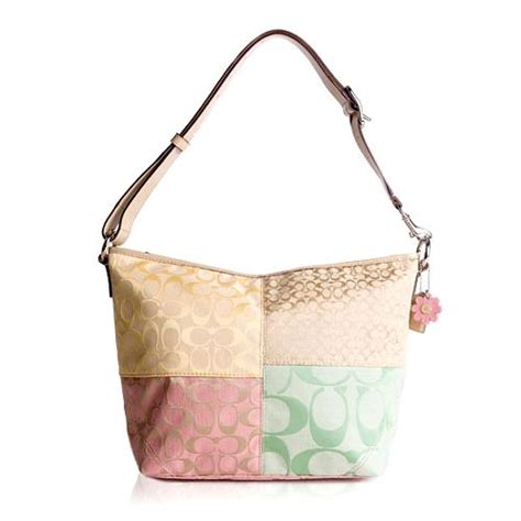 Coach Patchwork Handbag - coach pieced patchwork signature e w soft duffle shoulder