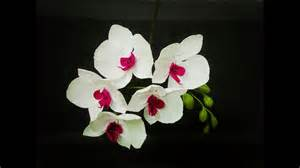 how to make phalaenopsis orchid from crepe paper craft