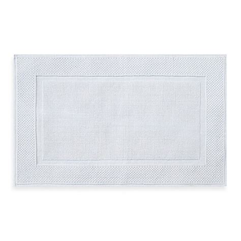 Jacquard Bath Rug Buy Wamsutta 174 Jacquard 20 Inch X 33 Inch Ring Spun Cotton Bath Rug In White From Bed Bath Beyond