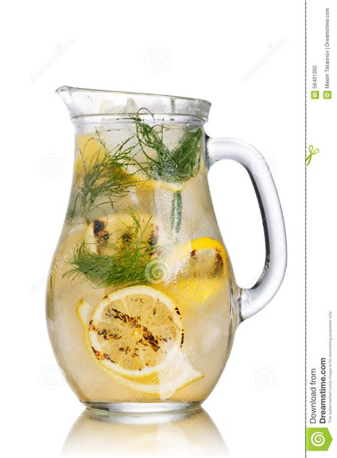 Detox Water Pitcher by Grilled Lemon Dill Detox Water Pitcher Stock Photo Image