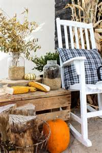 Bench On Front Porch Our Fall Home Tour On Country Living The Wood Grain Cottage