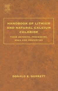 Handbook Of Lithium And Natural Calcium Chloride 1st Edition