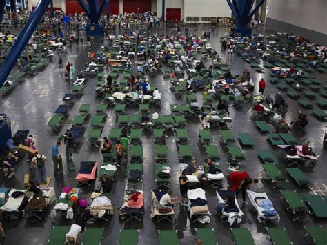 houston pound inside the houston convention center where harvey evacuees are the capacity