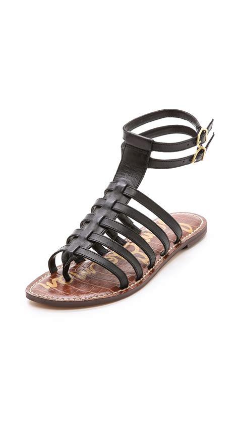 sam edelman sandals sam edelman gilda gladiator sandals in black lyst