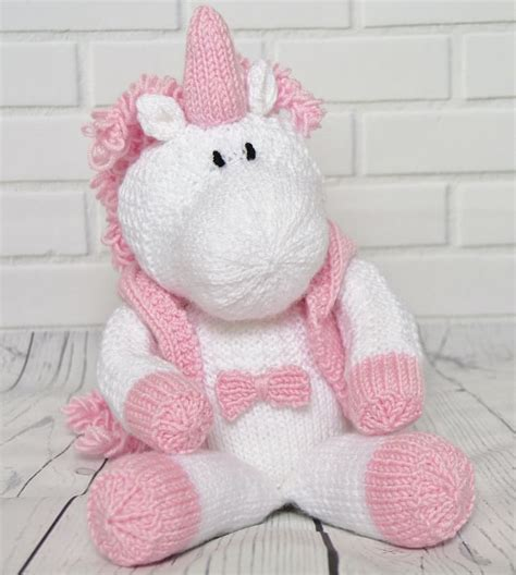 knitting pattern unicorn skylar the unicorn knitting by post