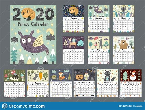 year calendar        vector illustration cartoondealer