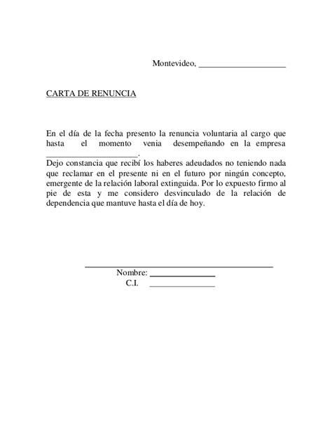 formato de renuncia voluntaria 2015 mxico carta renuncia