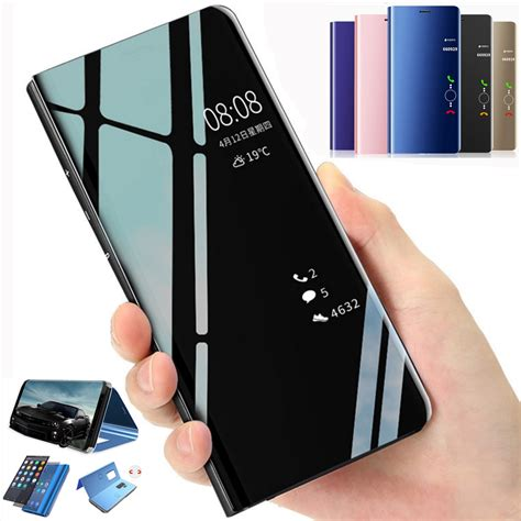 for samsung galaxy a6 j6 j8 plus 2018 clear view 360 cover flip wallet ebay