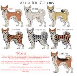 akita inu reference colors by black tiger of evil on