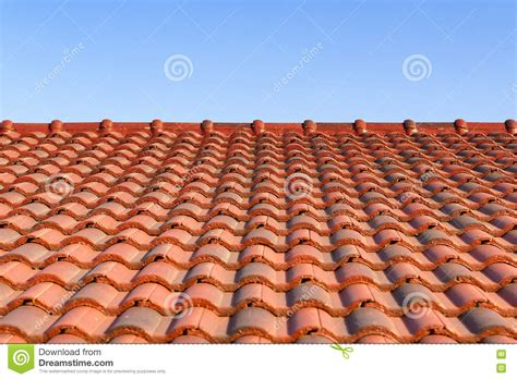 light for tile roofs the ceramic roof tile with sun light stock photo