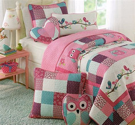 owl toddler bedding toddler bedding set owl birds 3pc quilt set turquoise
