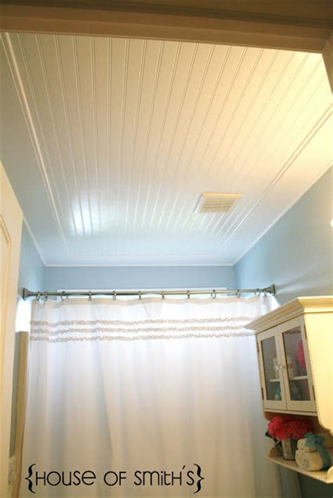 how to put up beadboard in bathroom beadboard ceiling in bathroom
