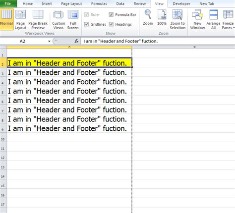 creating header and footer in php how to close header view in excel 2010 view header and