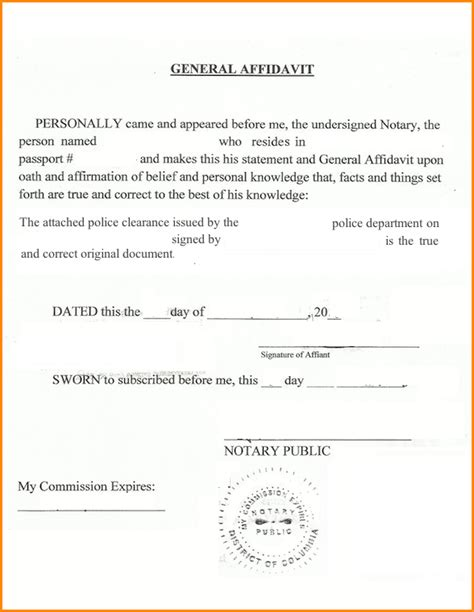 tex document template sle notary statements yun56 co