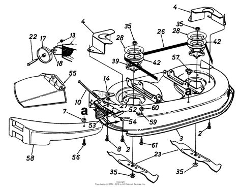 mtd mower deck diagram mtd 13as695g118 1997 parts diagram for deck assembly 42 inch