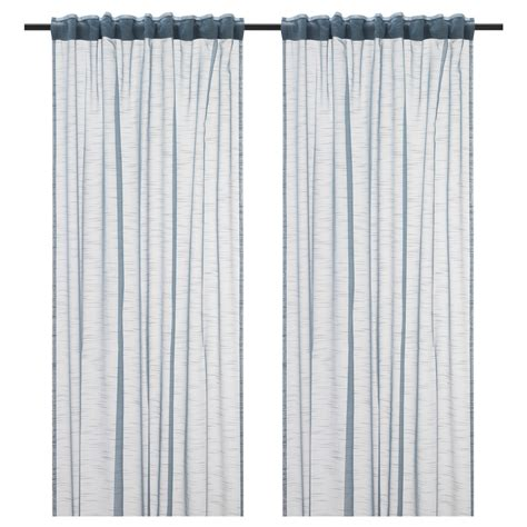 ikea grey curtains gjertrud sheer curtains 1 pair grey blue 145x250 cm ikea