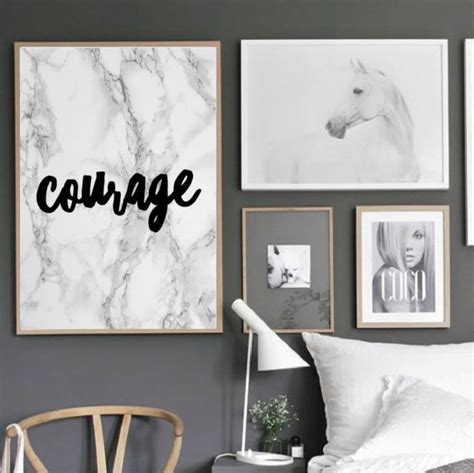 posters for home decor motivational quote poster courage home office dorm living