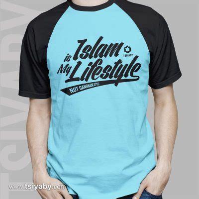 Repeat Kaos Raglan Islami Kaos Dakwah Kaos Distro Muslim islam is my lifestyle tsiyaby
