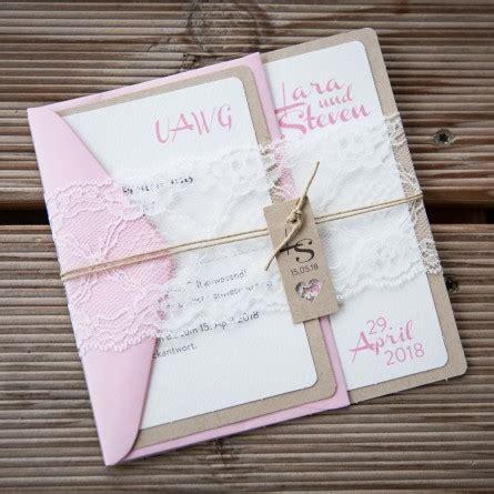 Hochzeitseinladungen Rosa Spitze by Einladungskarte Hochzeit