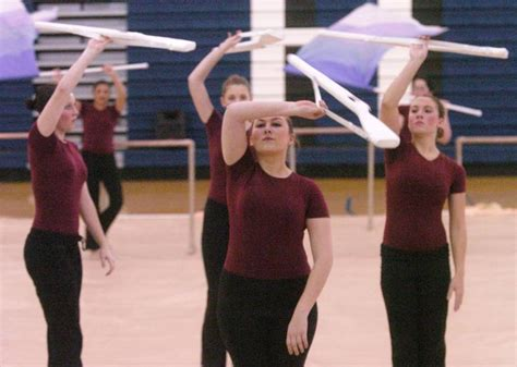 midwest color guard circuit color guard teams show talent dedication at lake park high