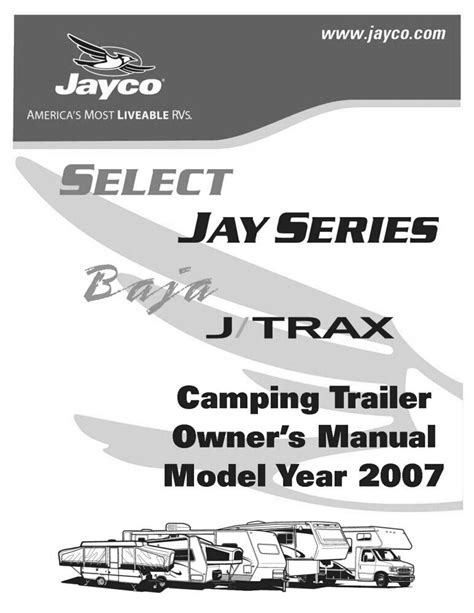 Jayco Fold Down Pop Up Tent Trailer Owners Manual 2007
