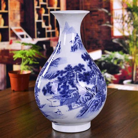 Antique Style Blue And White Vases In Vases From Home Garden On Aliexpress Alibaba Decorated Ceramic Porcelain Flower Vase Blue And White Antique Porcelain Vases In Vases From