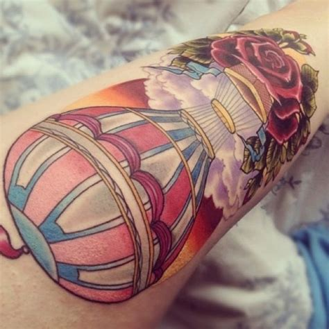 hot ink tattoo air balloon beautiful tattoos