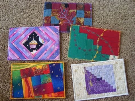 Patchwork Quilt Blocks - diy postcards 52 quilt block up