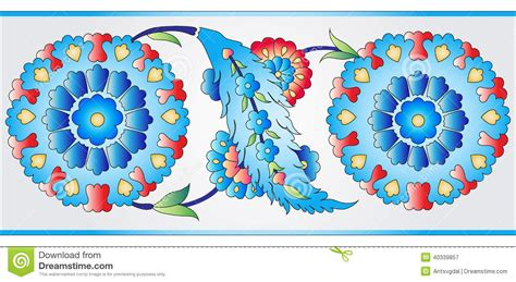 what elements defined ottoman art ottoman art flowers eight stock vector image 40339857