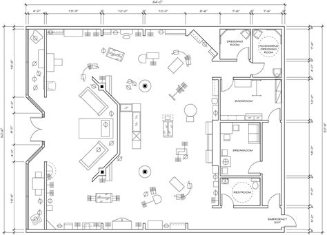clothing store floor plan retail store floor plan design architecture plans 78749