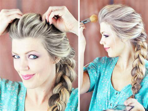 cute hairstyles elsa elsa hair tutorial snow queen big french braid