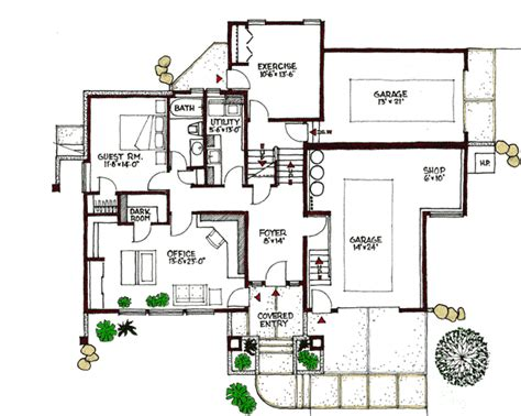 plan w16610gr contemporary multi level e architectural