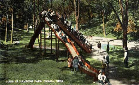 swing sets omaha hanscom park omaha 1900 1950 antique playground slide