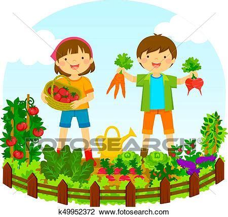clipart bambini clipart bambini in uno orto k49952372 cerca clipart