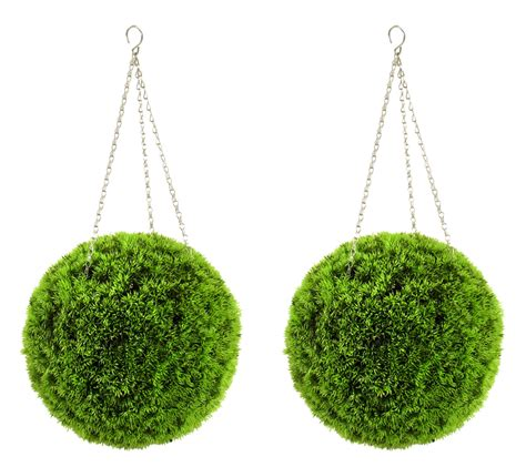 40cm topiary balls 40cm pair of artificial grass effect topiary balls by
