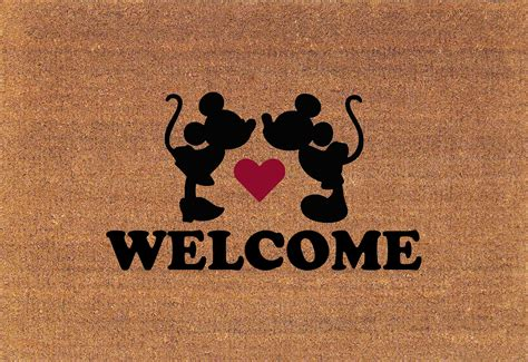 Disney Welcome Mat by Mickey Minnie Mouse Welcome Disney Door Mat Coir