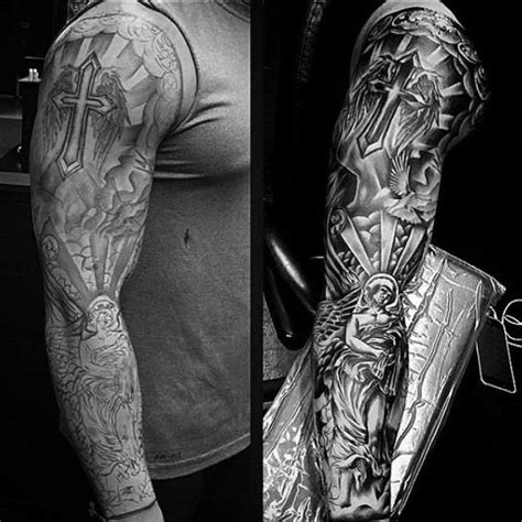 religious tattoo designs for men arms 75 religious sleeve tattoos for spirit