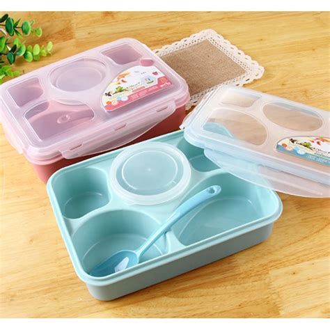 Lunch Box Bento 5 Sekat Yooyee 393 yooyee lunch box 5 sekat bento 393 kotak bekal makan